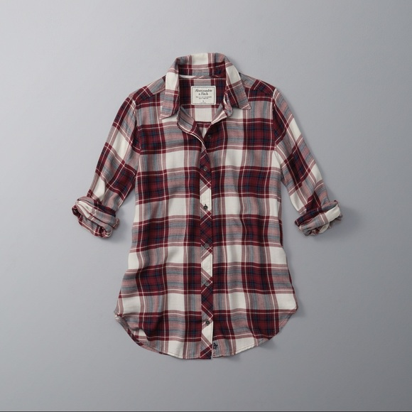 Abercrombie & Fitch Tops - Drapey Plaid Button-up Shirt